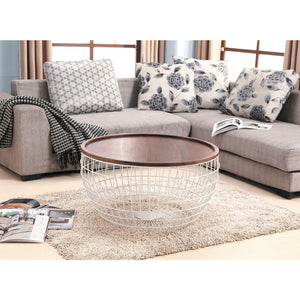Daisy Collection Walnut Veneer Coffee Table - Marco Furniture