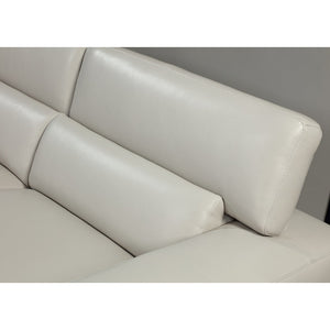 Dove Modern Leather Lounge - Marco Furniture