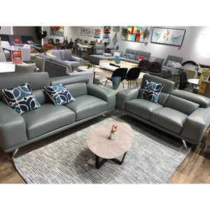 Dove Modern Leather Lounge