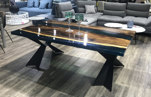 Blue Epoxy Dining Table