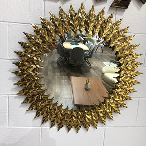 Wall Mirror Golden Stainless Steel