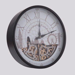 Murphy Vintage Wall Clock In Black Finish