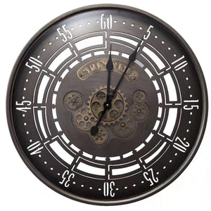 Vintage Moving Cogs Clock