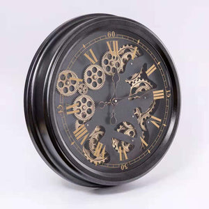 Vintage Moving Cogs Wall Clock