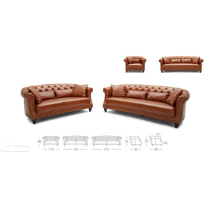 Channel Leather Lounge
