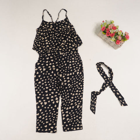 GIRLS HEART DOTS JUMPSUIT - Elsa Bella Baby