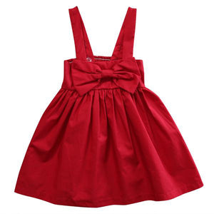 DAHLIA RED BOW DRESS - Elsa Bella Baby