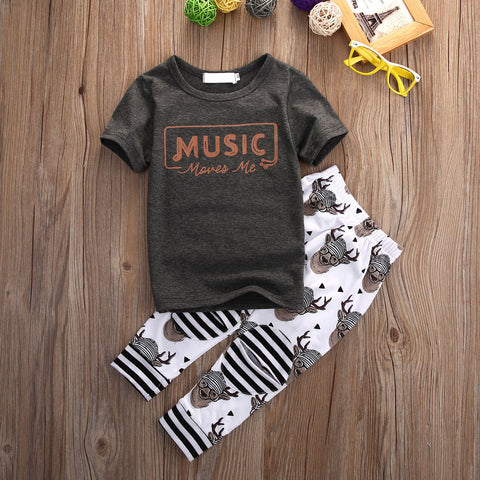 Image of MUSIC MOVES ME OUTFIT (2PC SET)