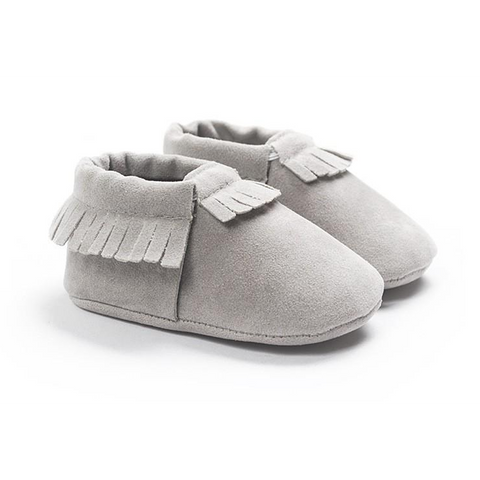 Image of MOCCASINS SOFT SOLE SHOES (GRAY)