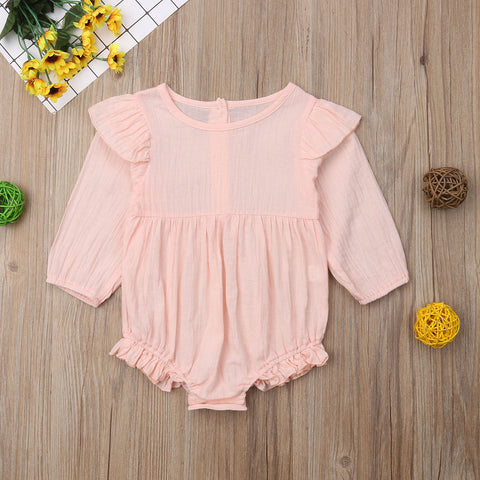 Eve Long Sleeve Ruffle Romper