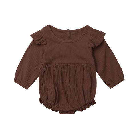 Image of Eve Long Sleeve Ruffle Romper
