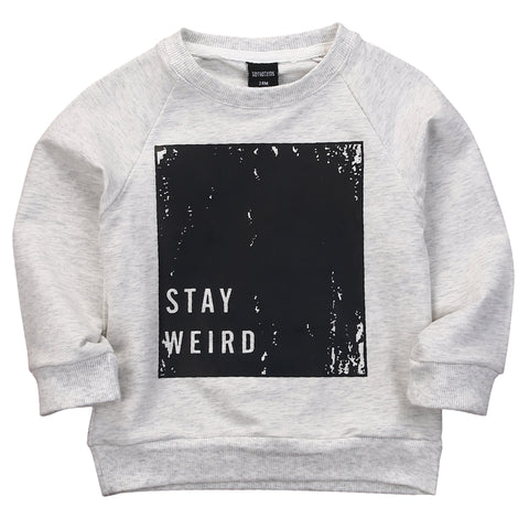 Image of STAY WEIRD SWEATER - Elsa Bella Baby