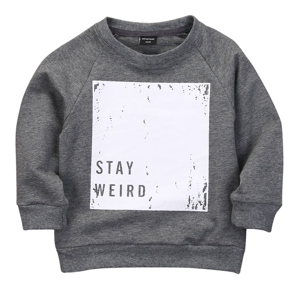 STAY WEIRD SWEATER - Elsa Bella Baby