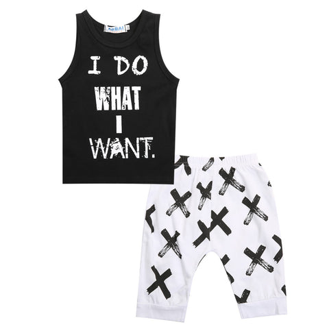 Image of I DO WHAT I WANT OUTFIT (2PC SET) - Elsa Bella Baby