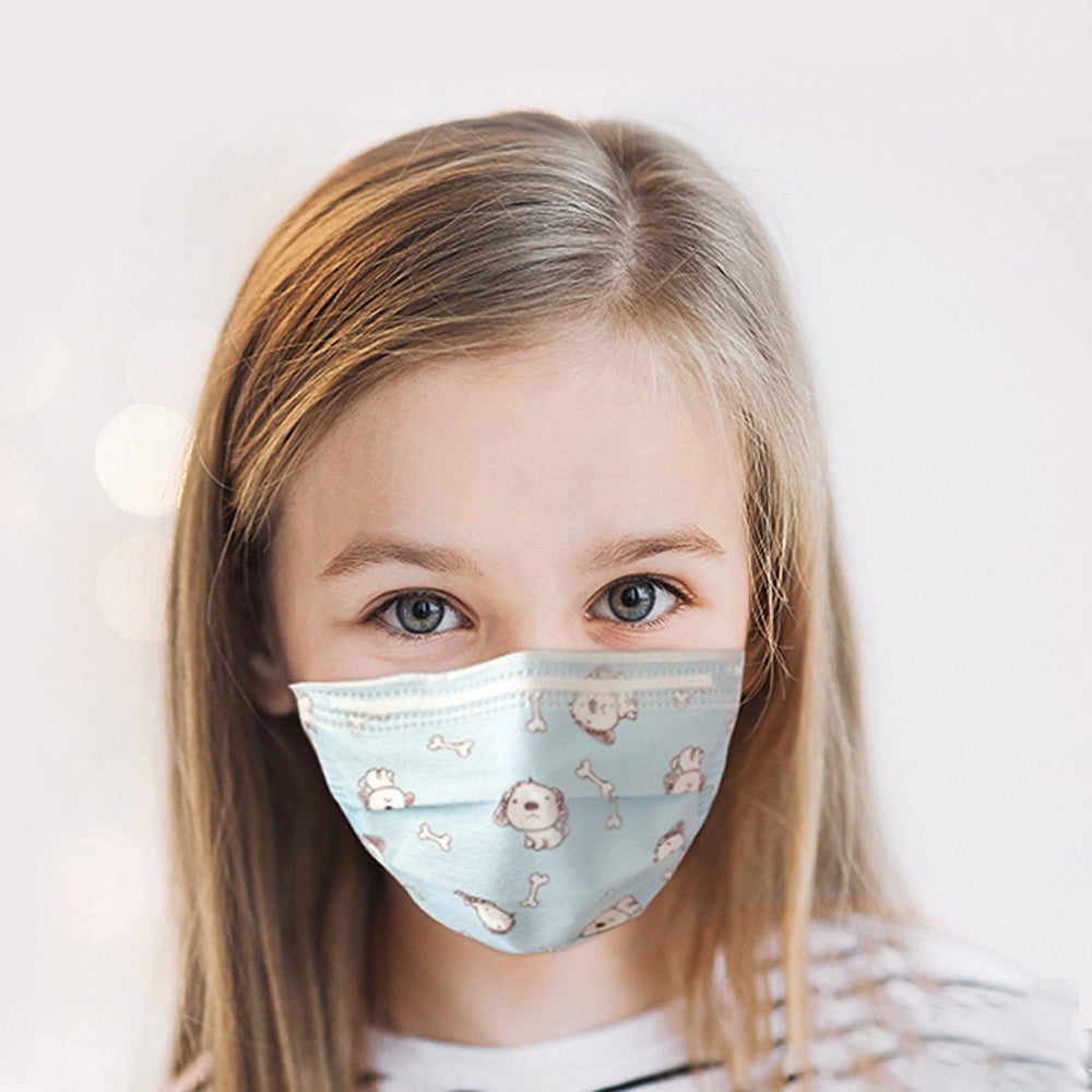 Fresco Children Masks (3-Layers, Set of 10)