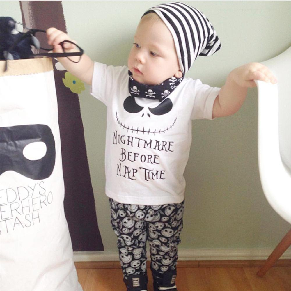 NIGHTMARE BEFORE NAP TIME OUTFIT (2PC SET)