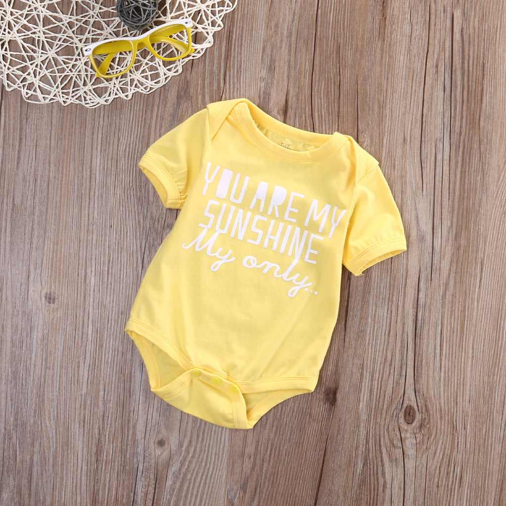 YOU ARE MY SUNSHINE ROMPER - Elsa Bella Baby
