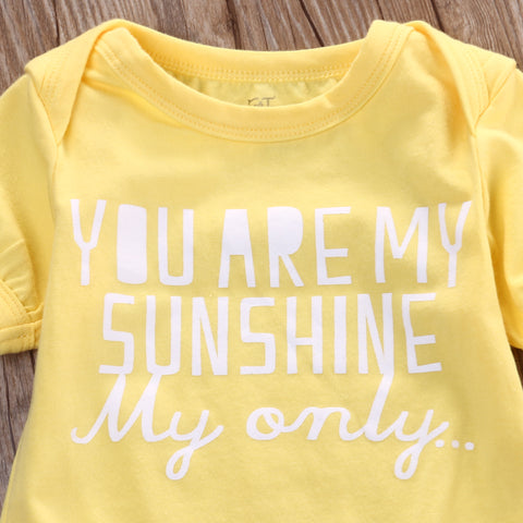Image of YOU ARE MY SUNSHINE ROMPER - Elsa Bella Baby