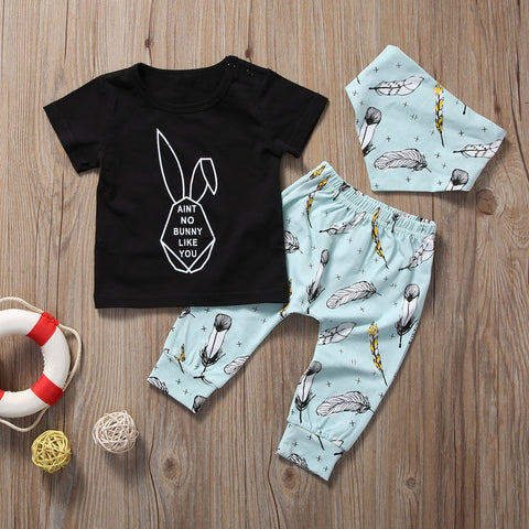 AIN'T NO BUNNY LIKE YOU OUTFIT (3PC SET) - Elsa Bella Baby
