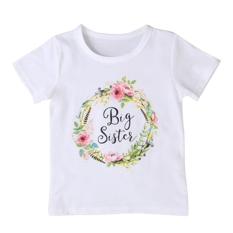 Image of BIG SIS & LIL SIS T-SHIRT AND ONESIES (FLOWER) - Elsa Bella Baby