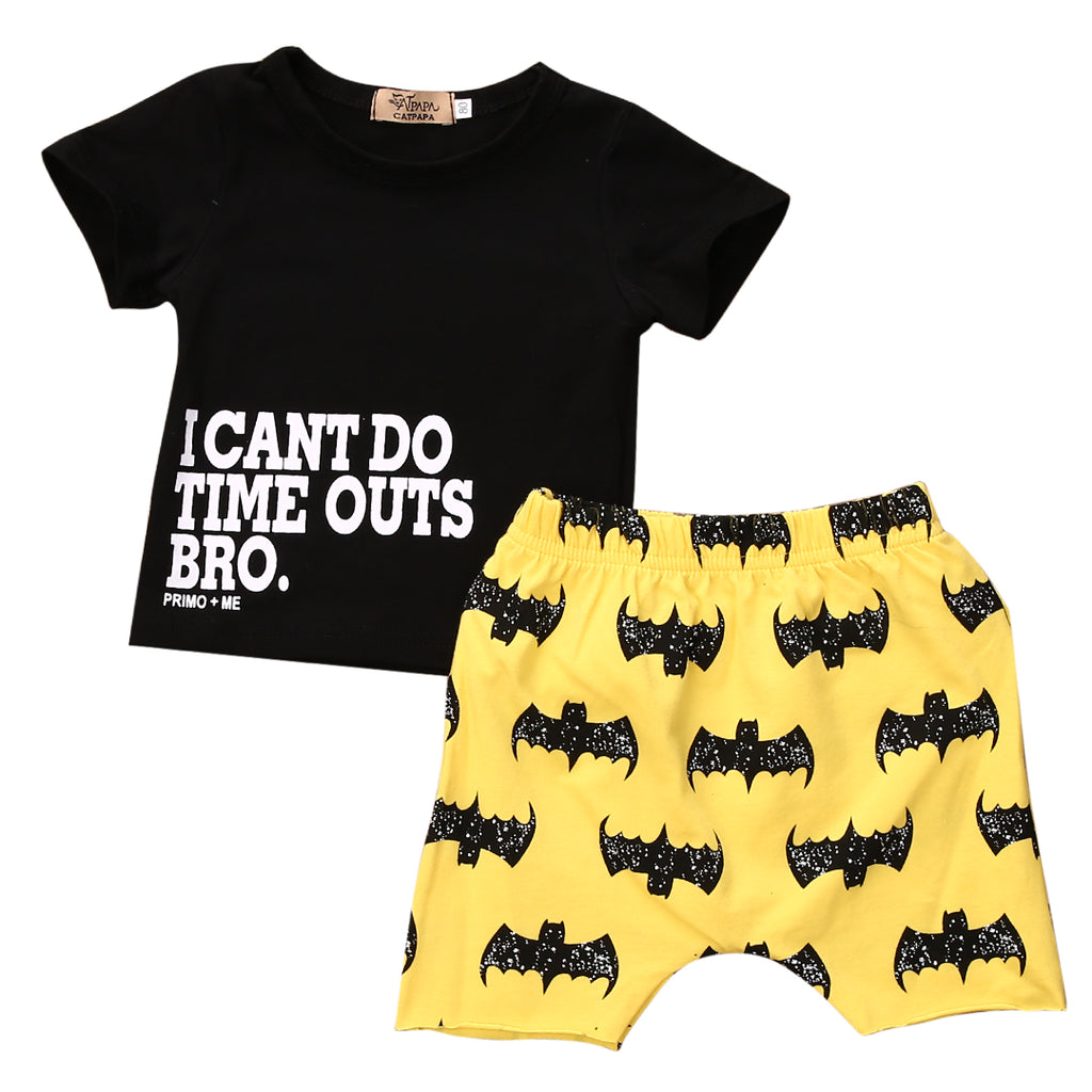 I CAN'T DO TIME OUTS BRO OUTFIT (2PC SET) - Elsa Bella Baby