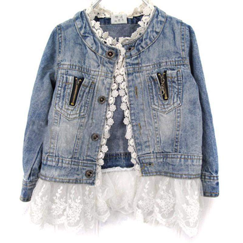 GRACE LACE & DENIM JACKET - Elsa Bella Baby