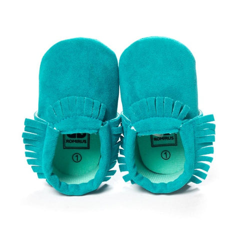 Image of MOCCASINS SOFT SOLE SHOES (TEAL)