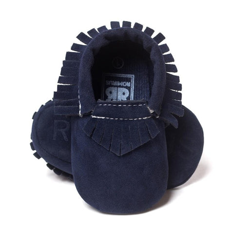 MOCCASINS SOFT SOLE SHOES (NAVY BLUE)