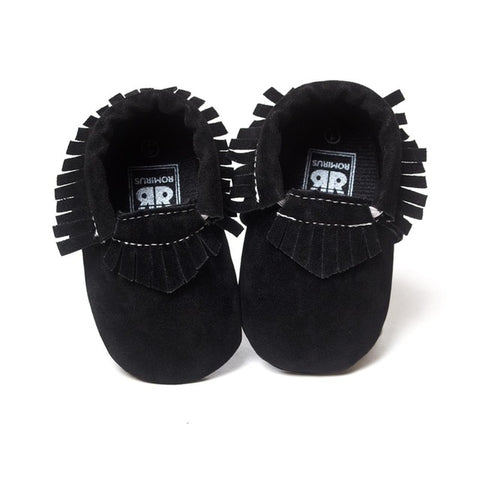 MOCCASINS SOFT SOLE SHOES (BLACK)