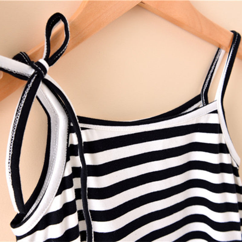 MOMMY + ME STRIPE SWING DRESS (BLACK & WHITE)