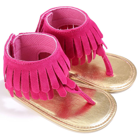Image of BABY TASSEL SANDALS - Elsa Bella Baby