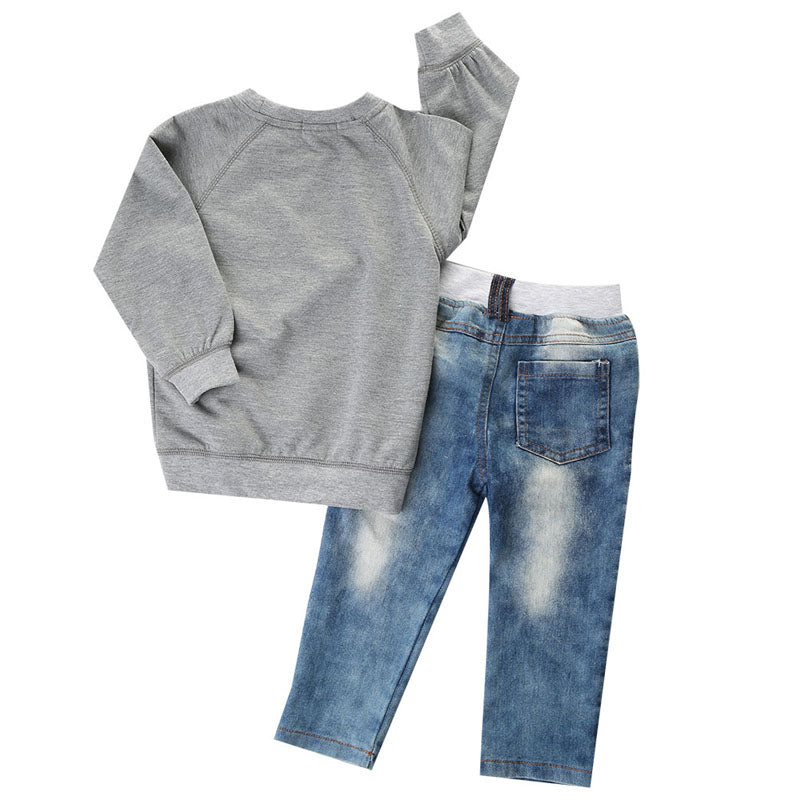 ROOKIE SKYLINE SWEATER & JEANS OUTFIT (2PC SET) - Elsa Bella Baby