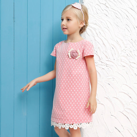 THE PALM SPRINGS PINK DRESS - Elsa Bella Baby