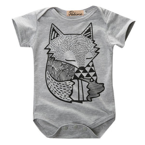 GRAY FOX ROMPER - Elsa Bella Baby