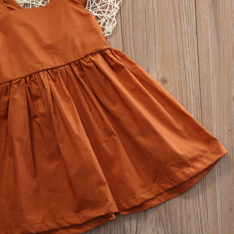 Image of ANNIE AUTUMN RUFFLE SLEEVE DRESS - Elsa Bella Baby