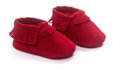 Image of MOCCASINS SOFT SOLE SHOES (RED)