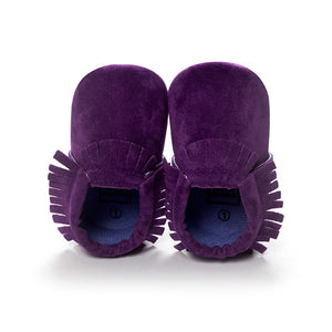 MOCCASINS SOFT SOLE SHOES (PURPLE)