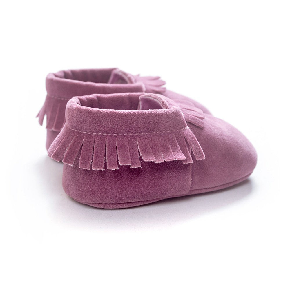 MOCCASINS SOFT SOLE SHOES (LIGHT PURPLE)