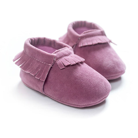 Image of MOCCASINS SOFT SOLE SHOES (LIGHT PURPLE)