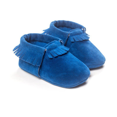 Image of MOCCASINS SOFT SOLE SHOES (ROYAL BLUE)