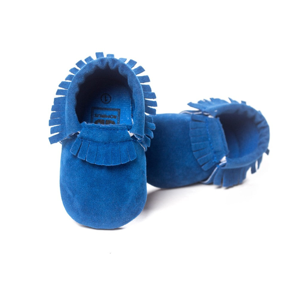 MOCCASINS SOFT SOLE SHOES (ROYAL BLUE)