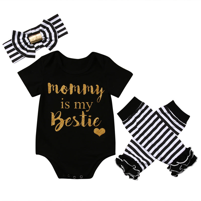 MOMMY IS MY BESTIE OUTFIT (3PC SET)