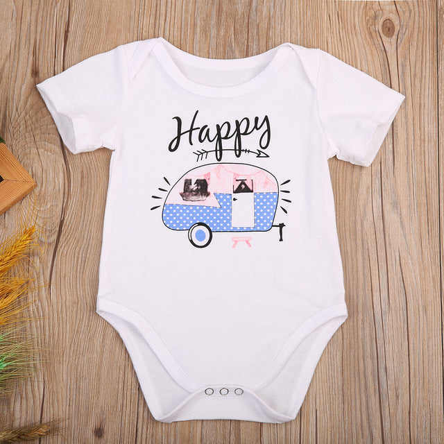 HAPPY CAMPER ROMPER (TWO DESIGNS) - Elsa Bella Baby
