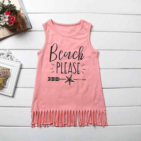 Image of RUN WITH THE WIND & BEACH PLEASE TASSEL DRESSES - Elsa Bella Baby
