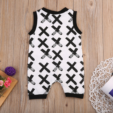 Image of CROSSES PRINTED ROMPER (MORE COLORS) - Elsa Bella Baby