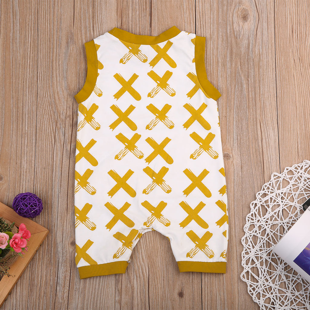 CROSSES PRINTED ROMPER (MORE COLORS) - Elsa Bella Baby