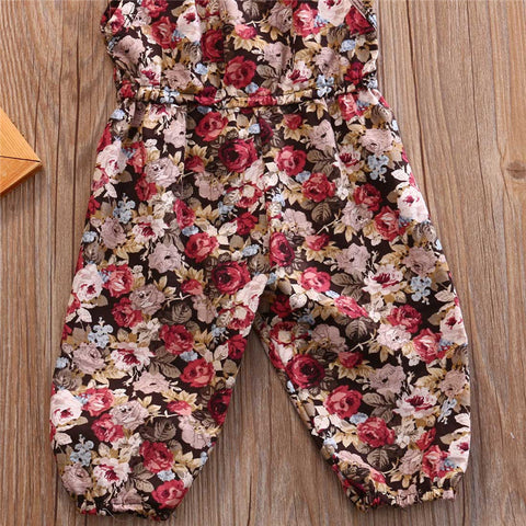 Image of VINTAGE FLORAL ROMPER (MORE COLORS) - Elsa Bella Baby