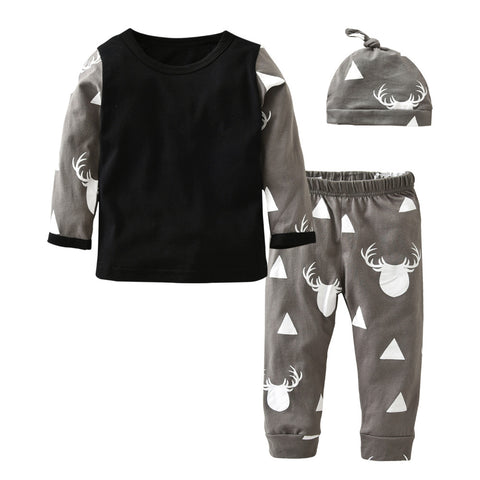 THE OH DEER OUTFIT (3PC SET) - Elsa Bella Baby