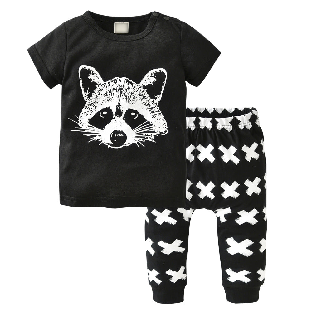 ROCKIN' RACCOON OUTFIT (2PC SET) - Elsa Bella Baby