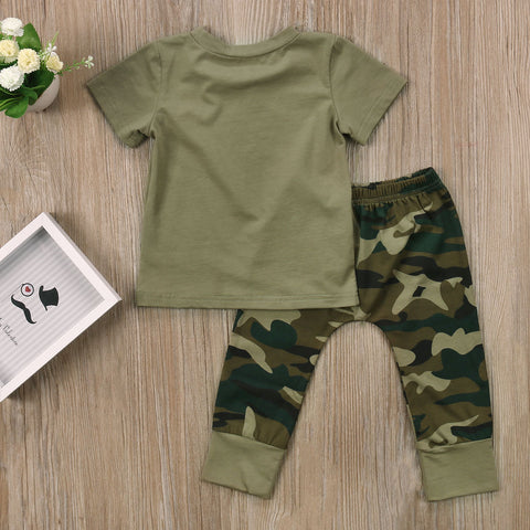 Image of CAMOUFLAGE FOR BABY-  DADDY'S GIRL/BOY OUTFIT (3PC SET) - Elsa Bella Baby